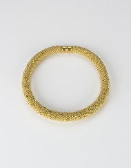 Gold Crochet Rope Necklace