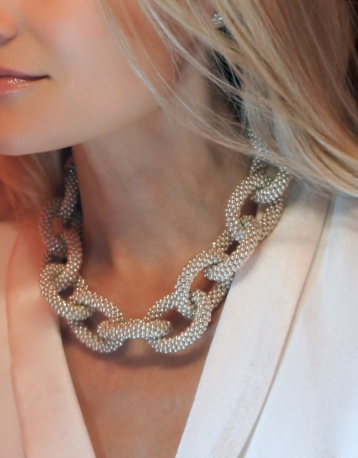 Hand Crochet Chain-Link Necklace 3