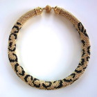 Hand Crochet Leopard Necklace