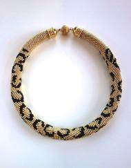 Hand Crochet Leopard Necklace