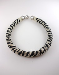 Hand Crochet Zebra Necklace
