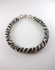 Hand Crochet Zebra Necklace