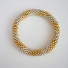 Spiral Stripe Beaded Roll On Bracelet